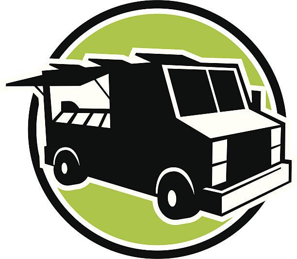 food truck icon vector art illustration