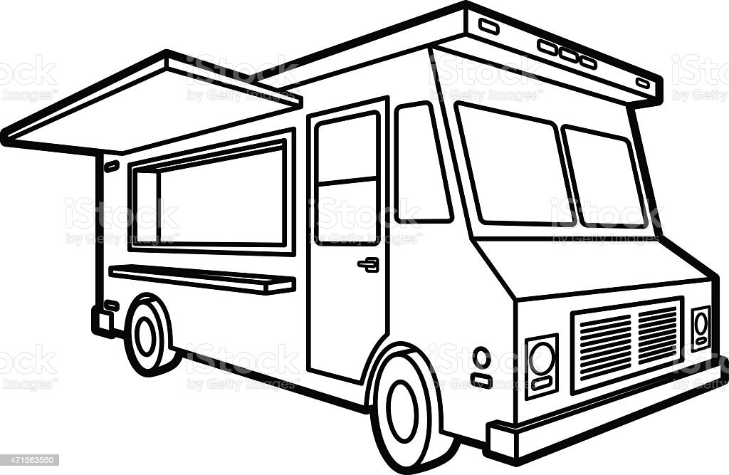 Food truck icon stock vector art 471563550 istock - Camping car a colorier ...