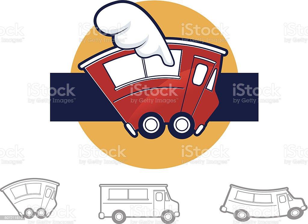 Food Truck Icons vector art illustration