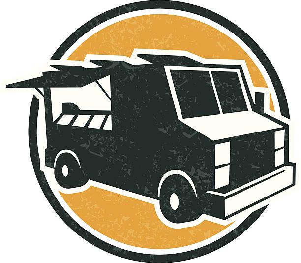 food truck logo vector art illustration
