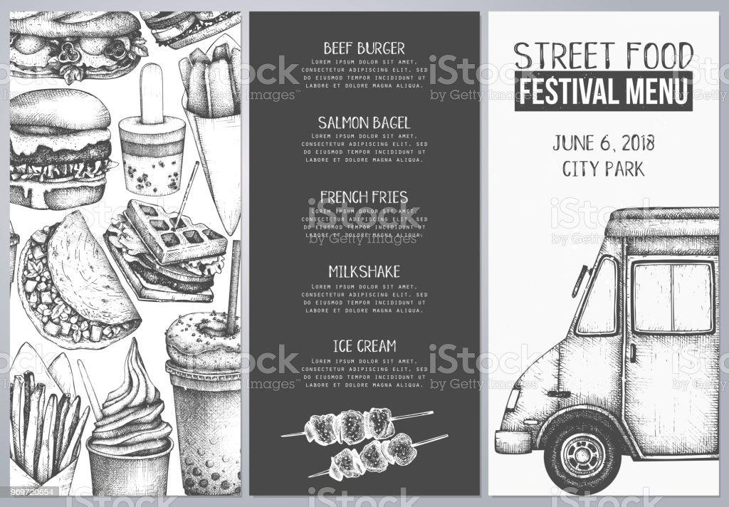 food truck menu design stock vector art more images of