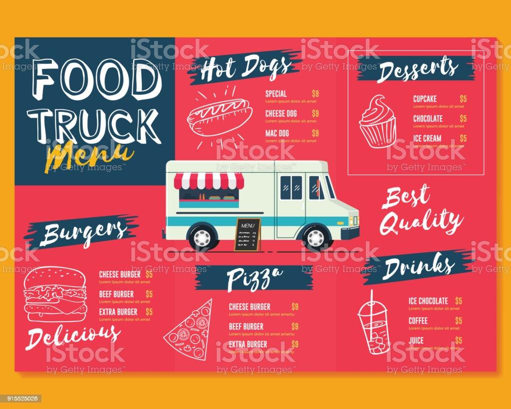 food truck menu template fast food brochure menu stock vector art