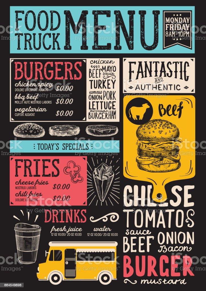 food truck menu template stock vector art more images of