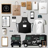 istock Food truck mock ups 1188240844
