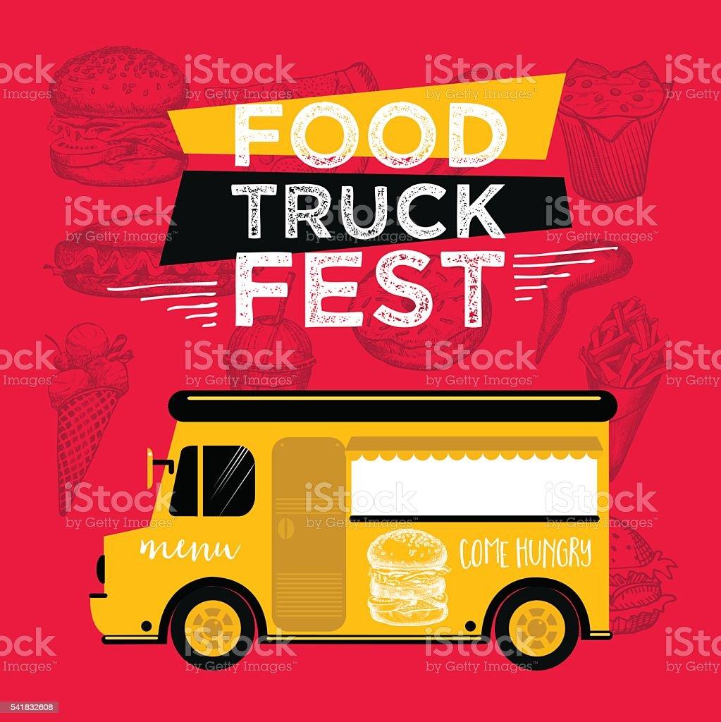 food truck menu template