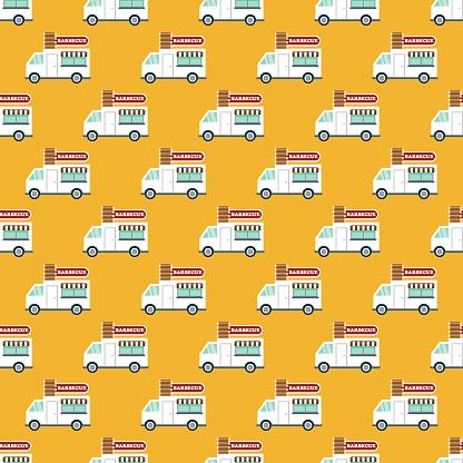 BBQ Food Truck Pattern