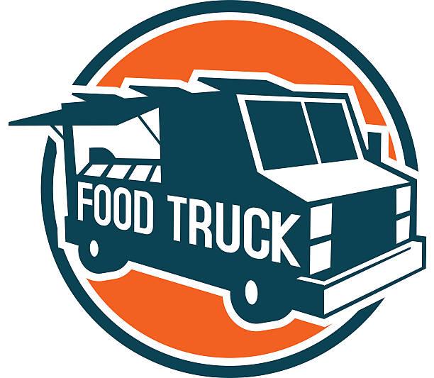 food truck text vector art illustration
