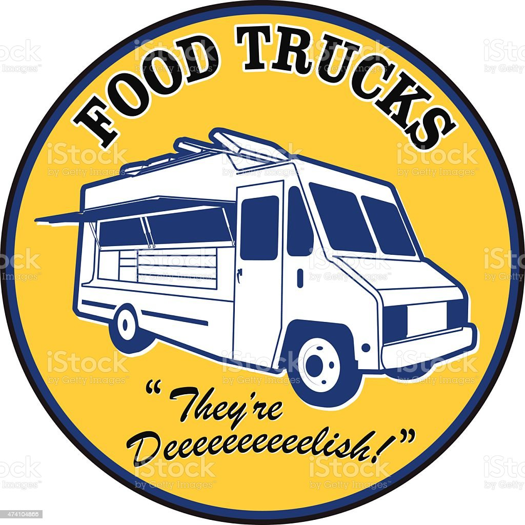 Food truck vintage decal royalty free food truck vintage decal stock vector art