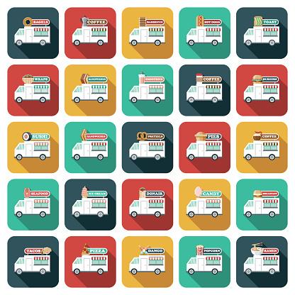Food Trucks Icon Set