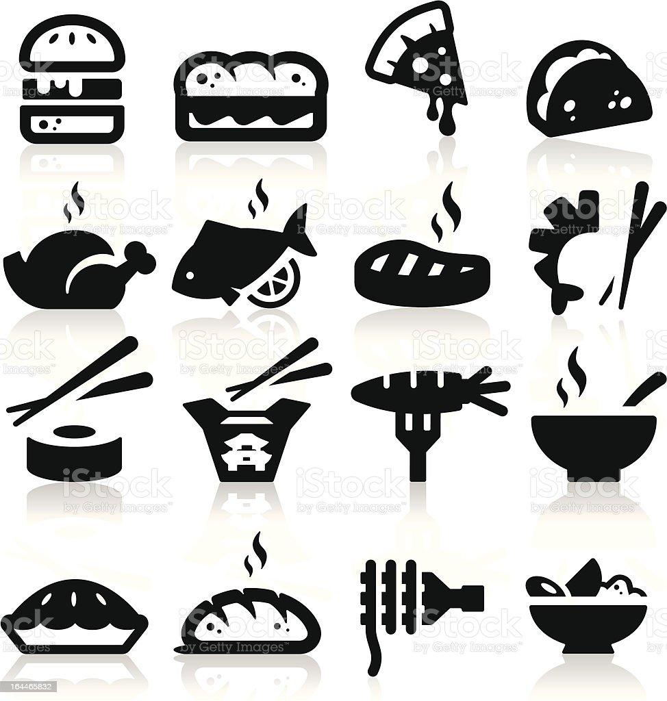 Food  type Icons vector art illustration