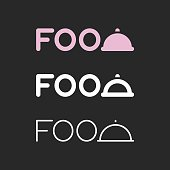 Food Typography Series Vector EPS File.