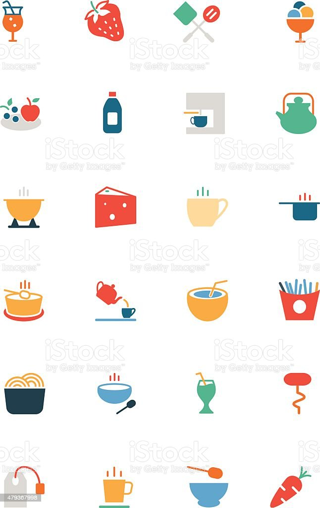Food Vector Colored Icons 4 vector art illustration