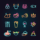 The vector files of food icon set.