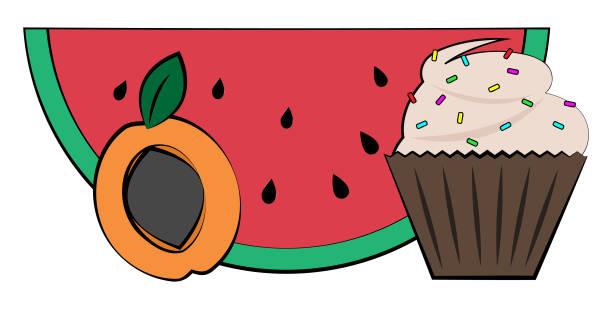 Food vector art illustration