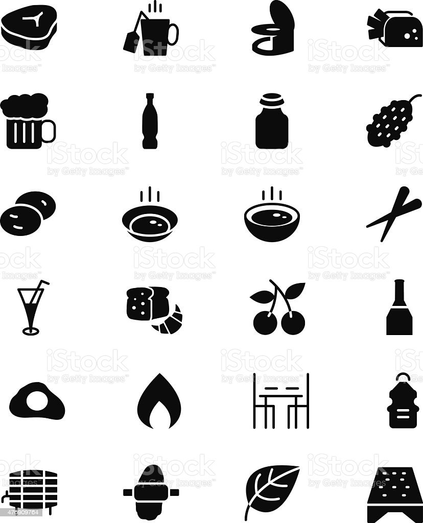 Food Vector Solid Icons 11 vector art illustration