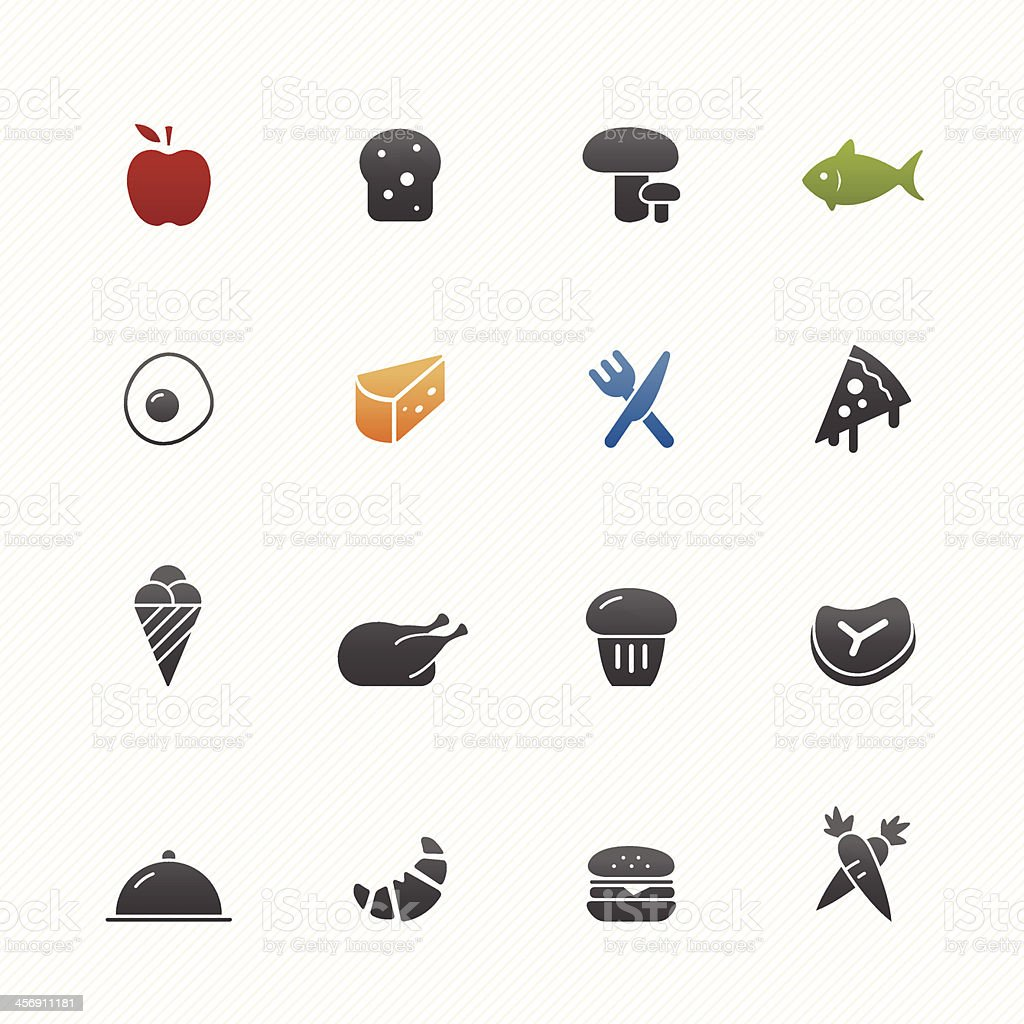 Food vector symbol icon set royalty-free stock vector art