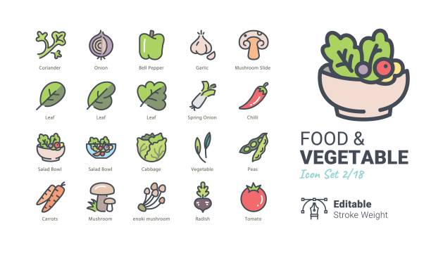 Food & Vegetable vector icons Food & Vegetable vector icons radish stock illustrations