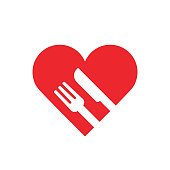 Food with love icon,vector illustration. EPS 10.