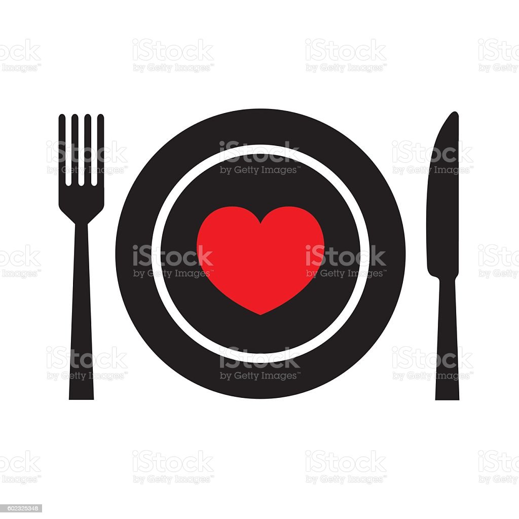 Food with Love vector art illustration