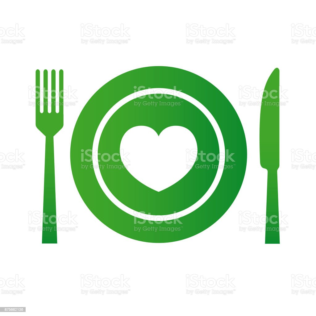 Food with Love - Vector vector art illustration