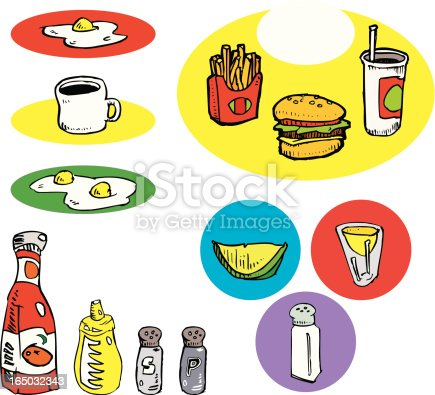 istock Food/Condiments Variety Pack (illustration) 165032343