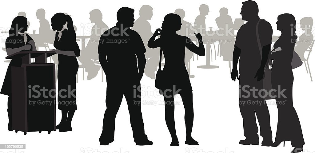 Food'n Friends Vector Silhouette royalty-free stock vector art