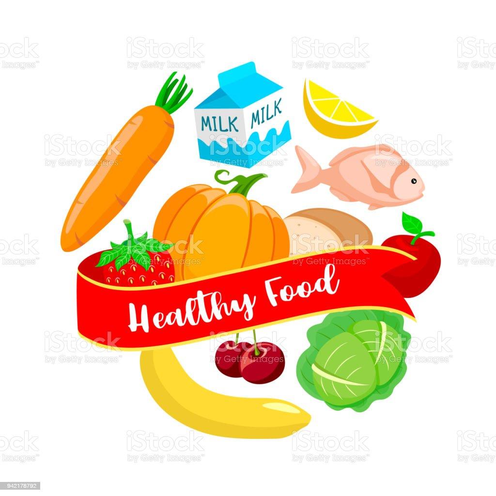 Circle Shaped Food Foods In Circle...