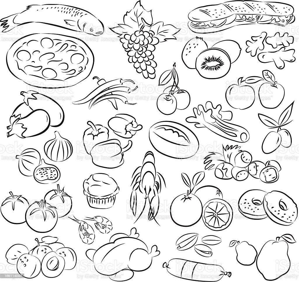 foods royalty-free stock vector art