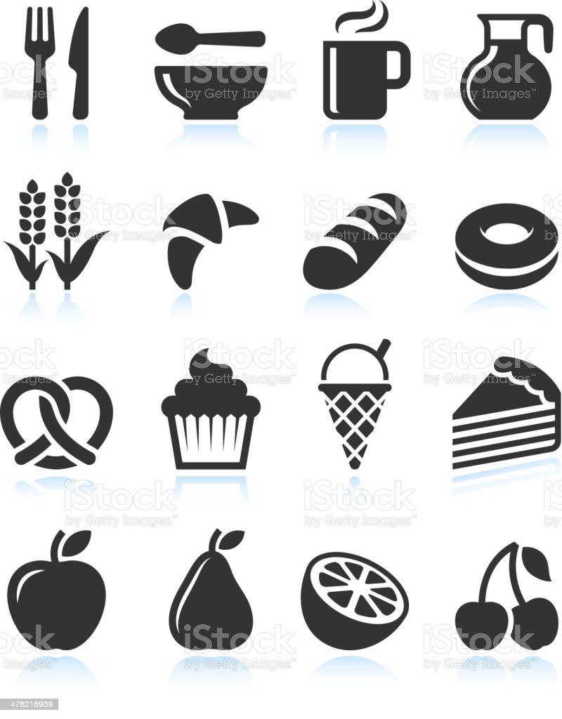 Souvent Aliments Noir Et Blanc Avec Ensemble Dicônes Vectorielles Libres  RN86