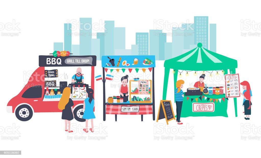 foodstreet - Illustration vectorielle