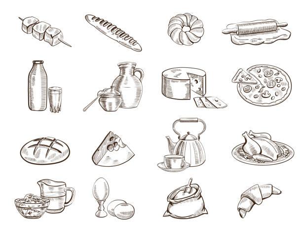 lebensmittel - gluten stock-grafiken, -clipart, -cartoons und -symbole