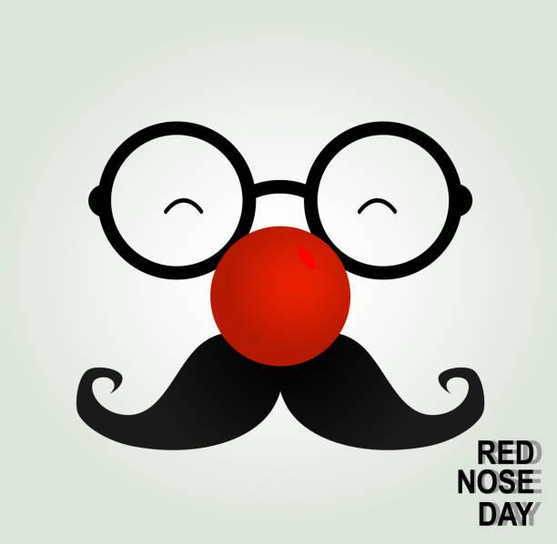 narr clown brille und rote nase. - köln stock-grafiken, -clipart, -cartoons und -symbole