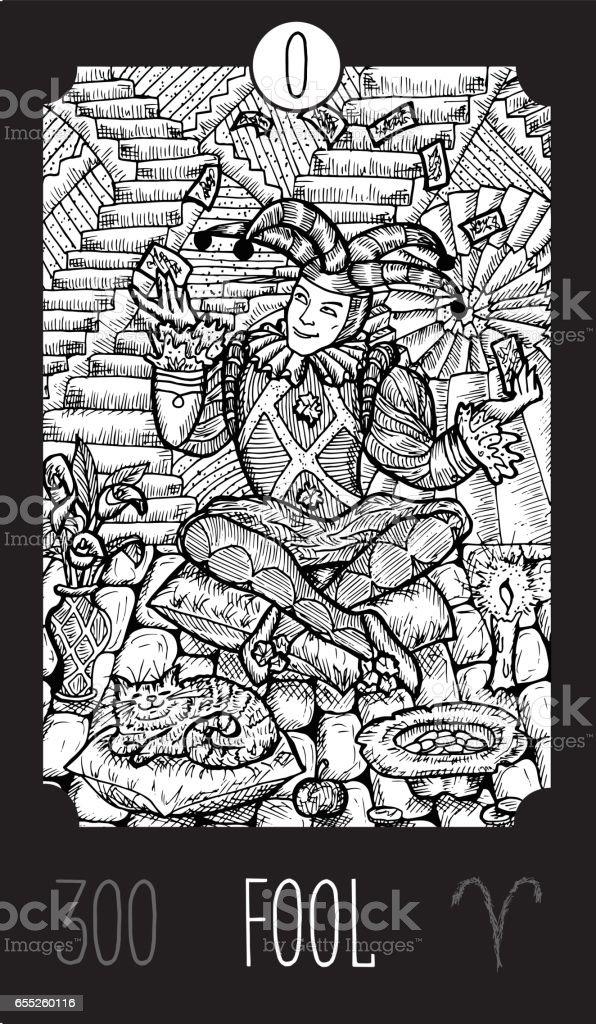 Fool vector art illustration
