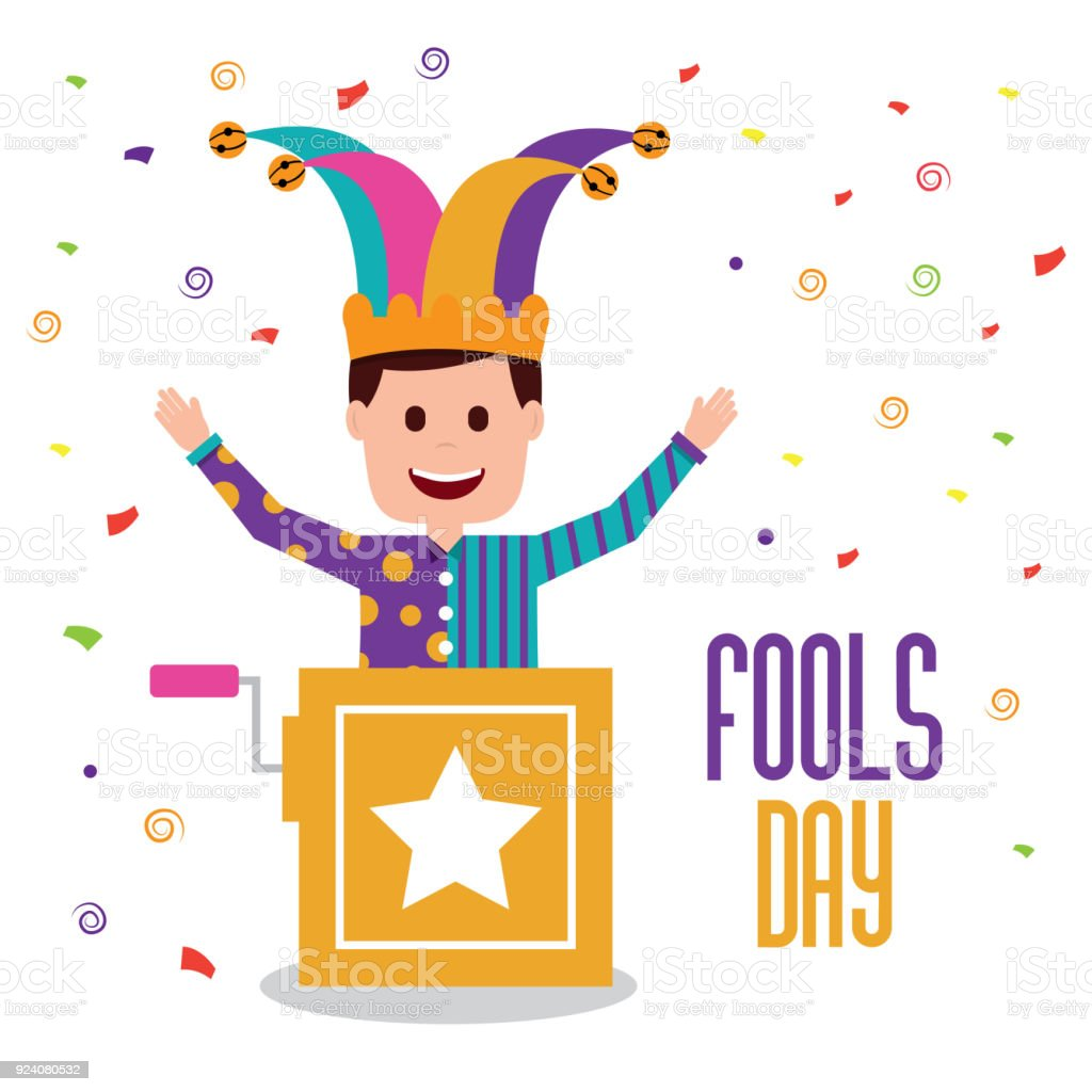 Fools Day Greeting Card Stock Vector Art More Images Of Adult