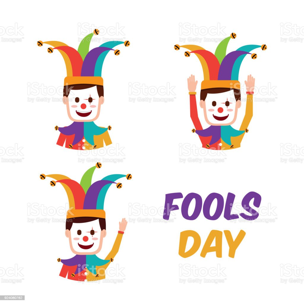 Fools Day Greeting Card Stock Vector Art More Images Of April