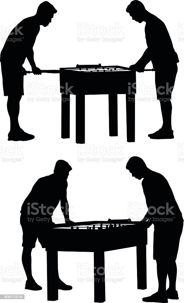 Foosball Vector Silhouette - Illustration vectorielle