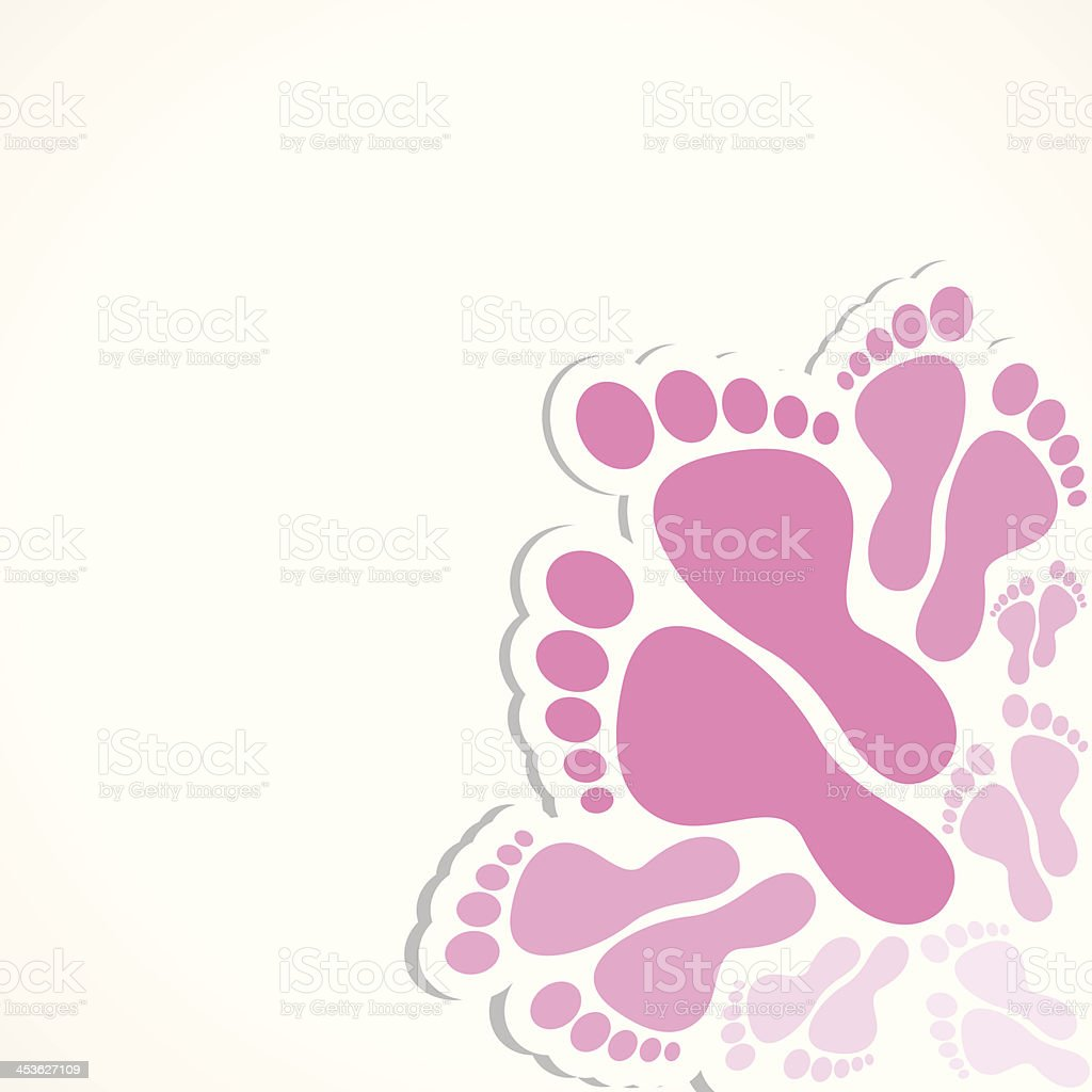 foot background royalty-free stock vector art