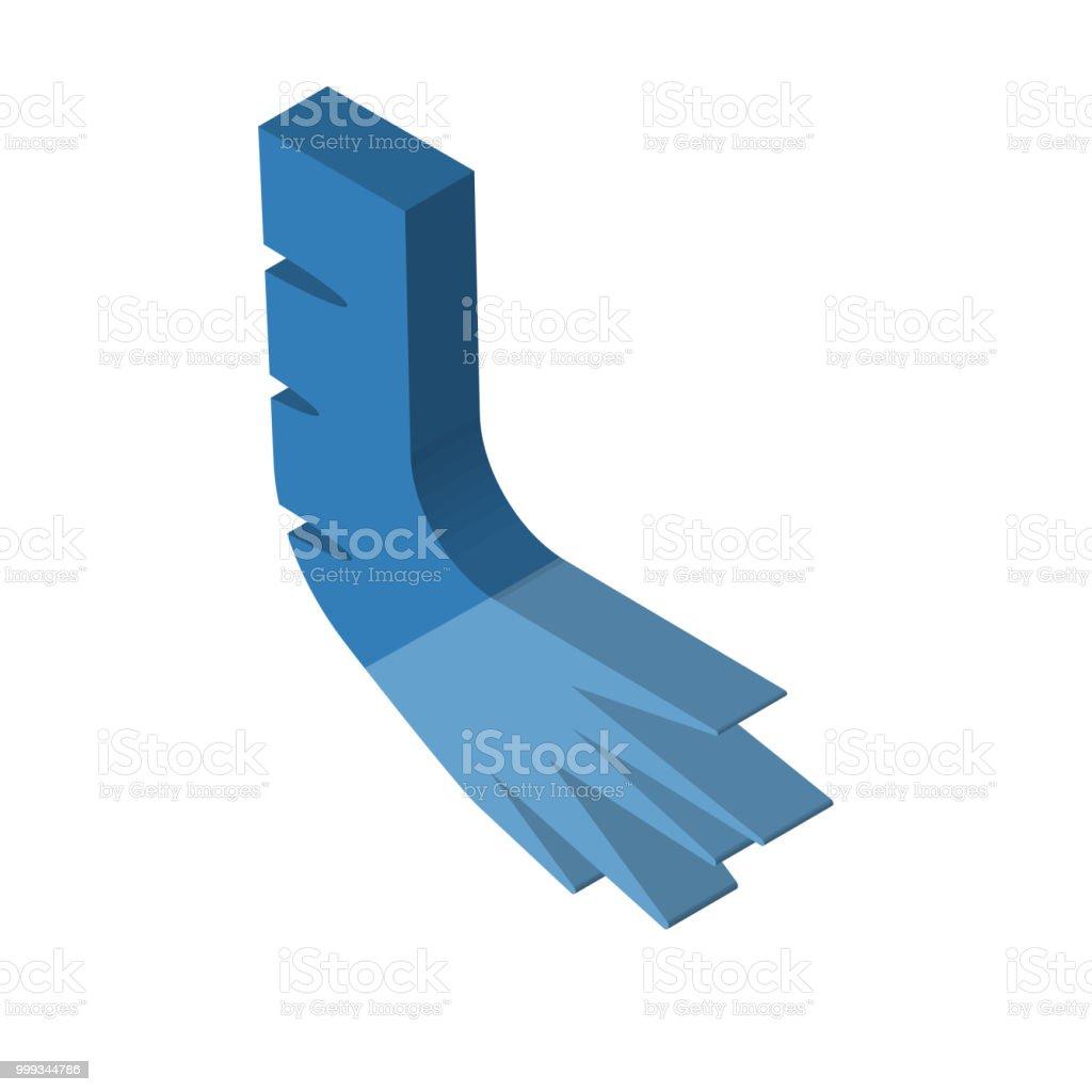 Fuß Rechts Oben Isometrieansicht Knochen 3dsymbol Stock Vektor Art ...