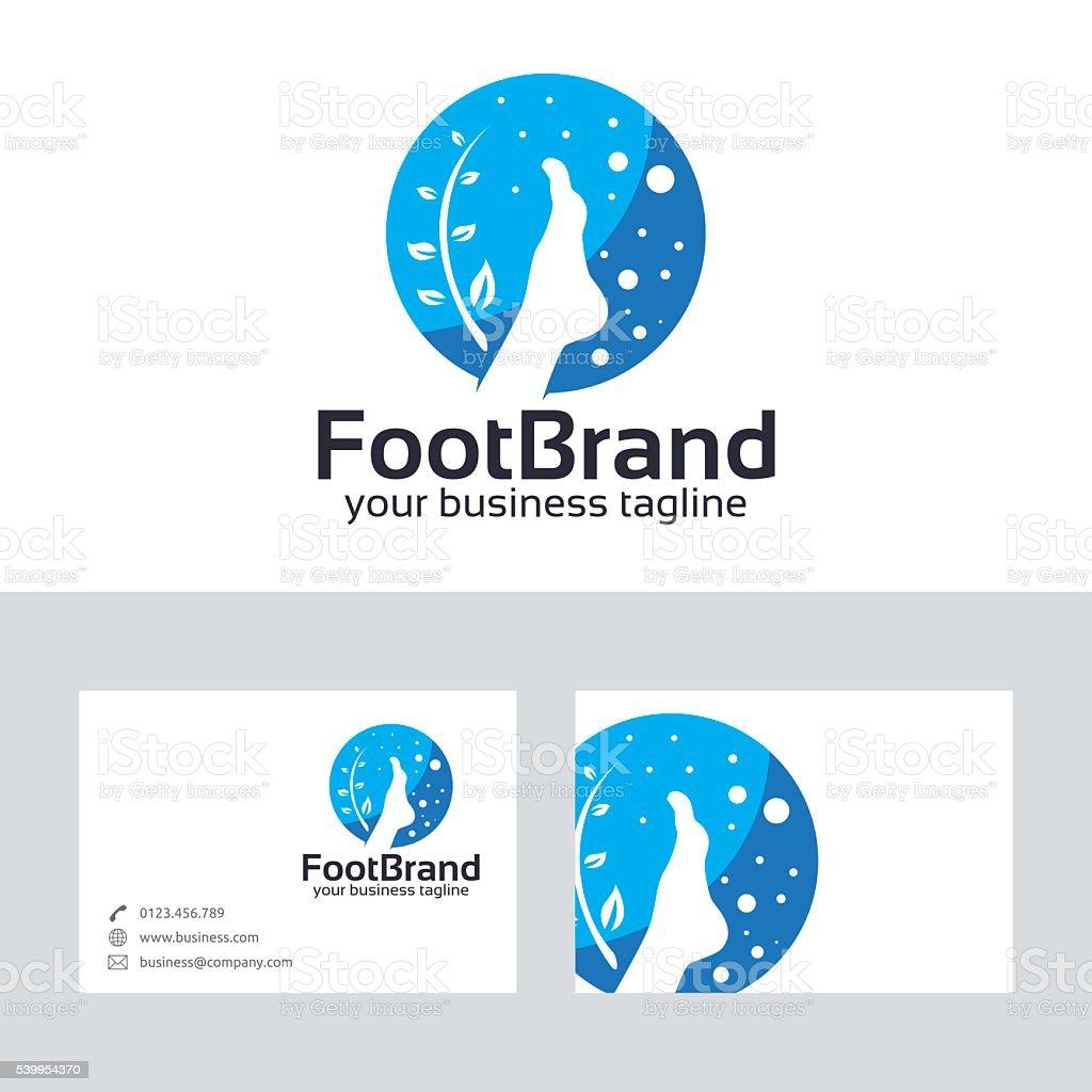 Pied De Logo Vectoriel Avec Modle Carte Visite
