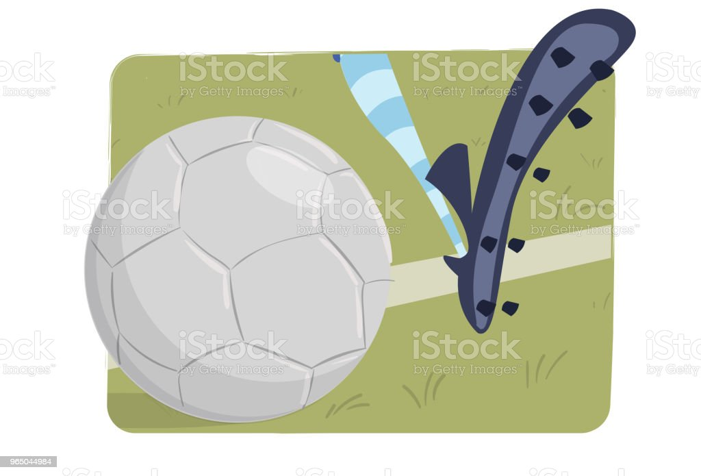 Foot on the soccer ball royalty-free foot on the soccer ball stock vector art & more images of ball