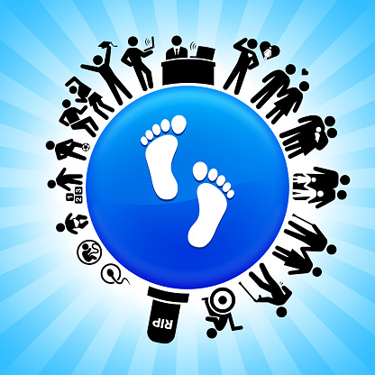 Foot Prints  Lifecycle Stages of Life Background