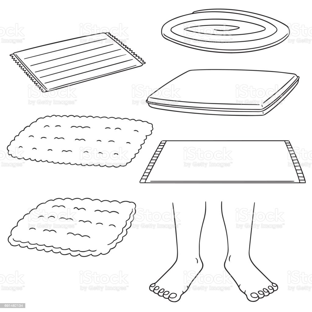 foot wipe vector art illustration