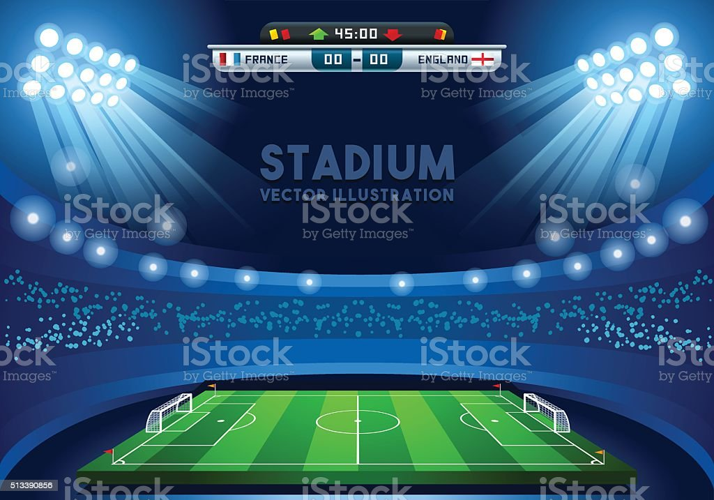 Football 02 Sport Background vector art illustration