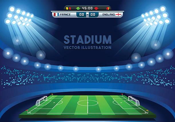 stockillustraties, clipart, cartoons en iconen met football 02 sport background - sportkampioenschap