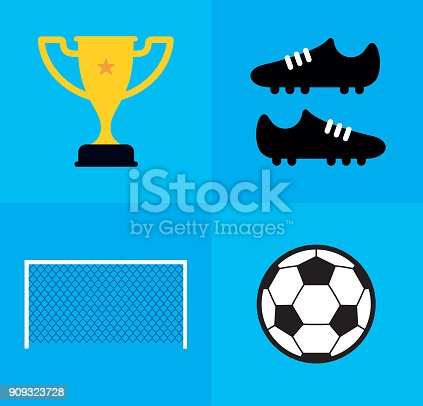 Flat, modern style soccer themed vectors designed to be easily adaptable and editable for your creative projects.