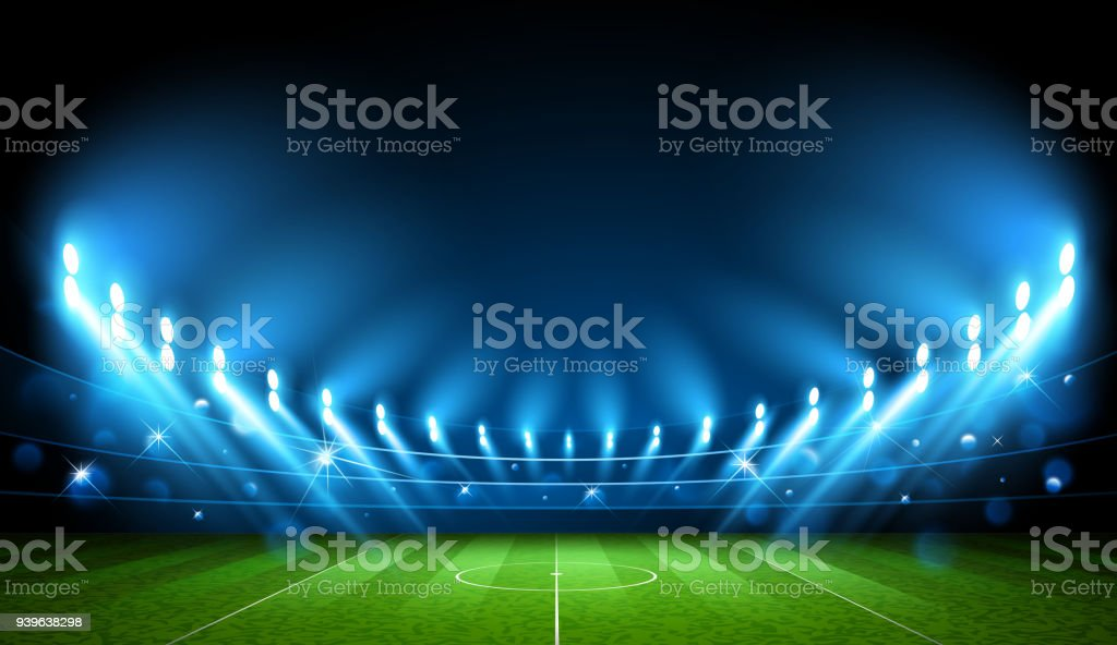 Football Arena. Stadium. Vector