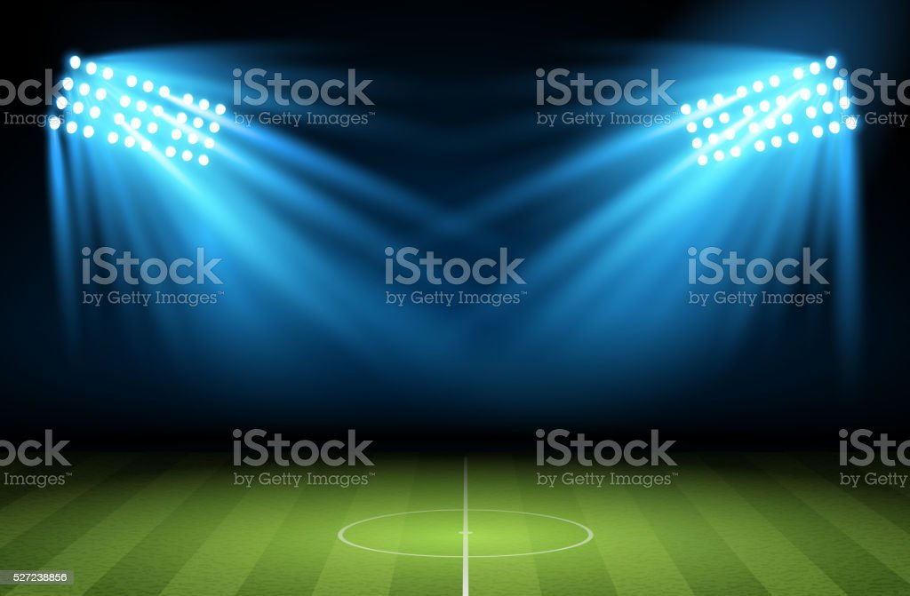 Football arena. Vector vector art illustration