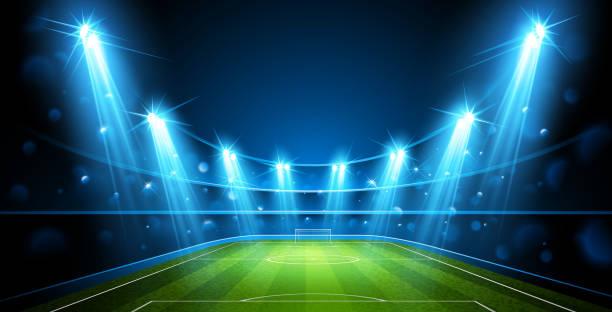 フットボール競技場。ベクトル - スタジアム点のイラスト素材/クリップアート素材/マンガ素材/アイコン素材
