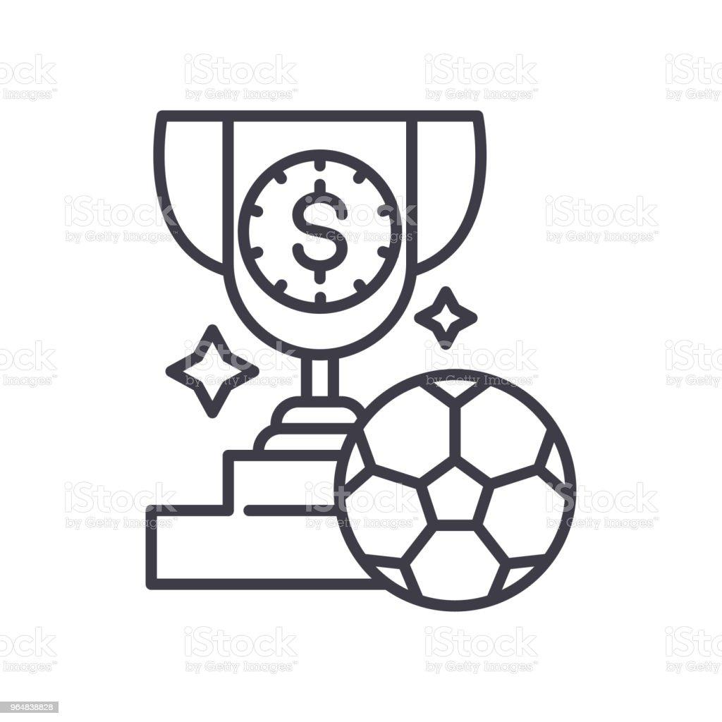 Football award black icon concept. Football award flat  vector symbol, sign, illustration. royalty-free football award black icon concept football award flat vector symbol sign illustration stock vector art & more images of achievement