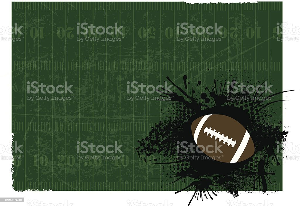 Football Background - Grunge Field royalty-free stock vector art